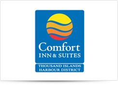 New in 2014! The Comfort Inn and Suites in Gananoque is located within walking distance of the beautiful waterfront and the historic downtown. At the waterfront you will find 1000 Islands boat tours; aboard Gananoque Boat Line, the historic village, picturesque parks and a public beach.  Our downtown boasts  great local shopping and many fabulous restaurants.