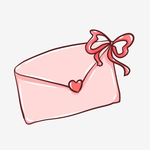 Pink Envelope Ribbon Love Sweet Confession Letter Token Love
