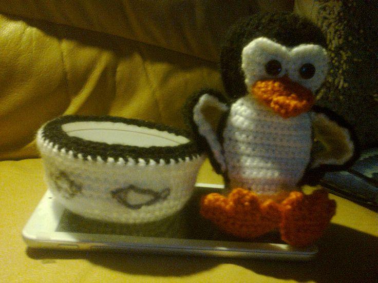 Pingvin kínálótálkával