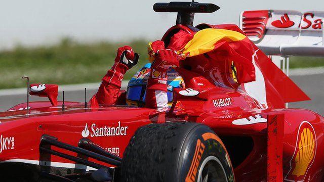 Spanish GP: Ferraris Fernando Alonso takes home win 2013