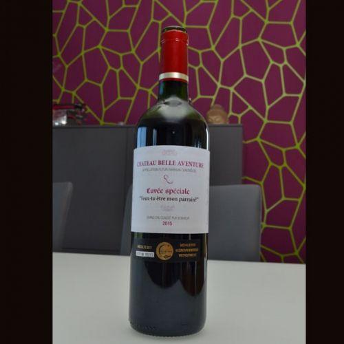 Etiquette vin parrain                                                                                                                                                                                 Plus