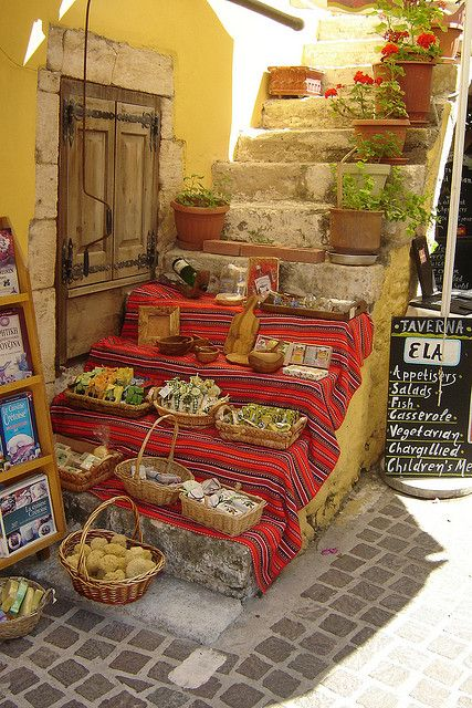 Local market in #Crete, Greek traditional #products