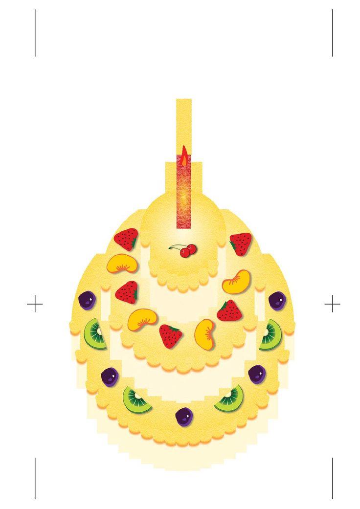 pop up birthday cake tutorial  paper cutting  pinterest