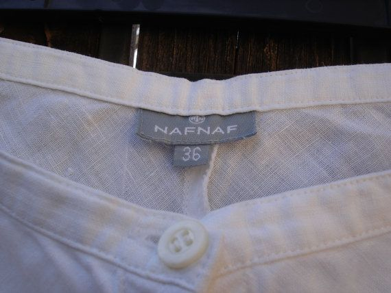 Check out this item in my Etsy shop https://www.etsy.com/listing/238244326/naf-naf-paris-summer-white-linen-cotton