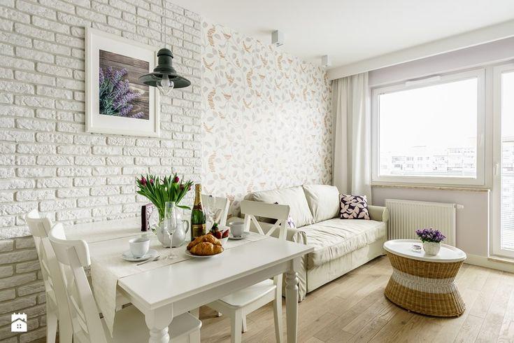 Apartament prowansalski – Aviator – Gdańsk - Jadalnia, styl prowansalski - zdjęcie od Anna Serafin Architektura Wnętrz