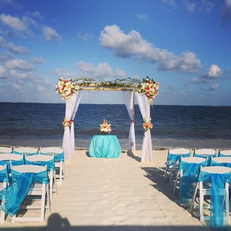 all inclusive beach wedding destinations%0A A gorgeous beach setup at