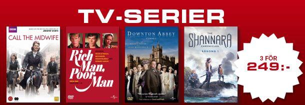 3 TV-serier för 249:- - Discshop.se
