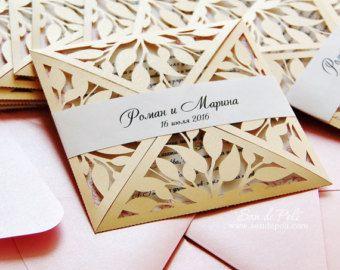 Caja rollo de invitaciones de boda rollo archivo de plantilla de tarjeta de  corte a la remolino C116 (svg, dxf, ai, eps, png, pdf) láser papel cortado