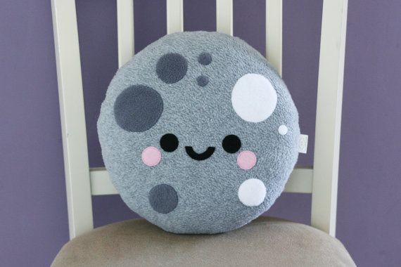Moon Pillow Cute Cushion Space Accessory di hannahdoodle su Etsy