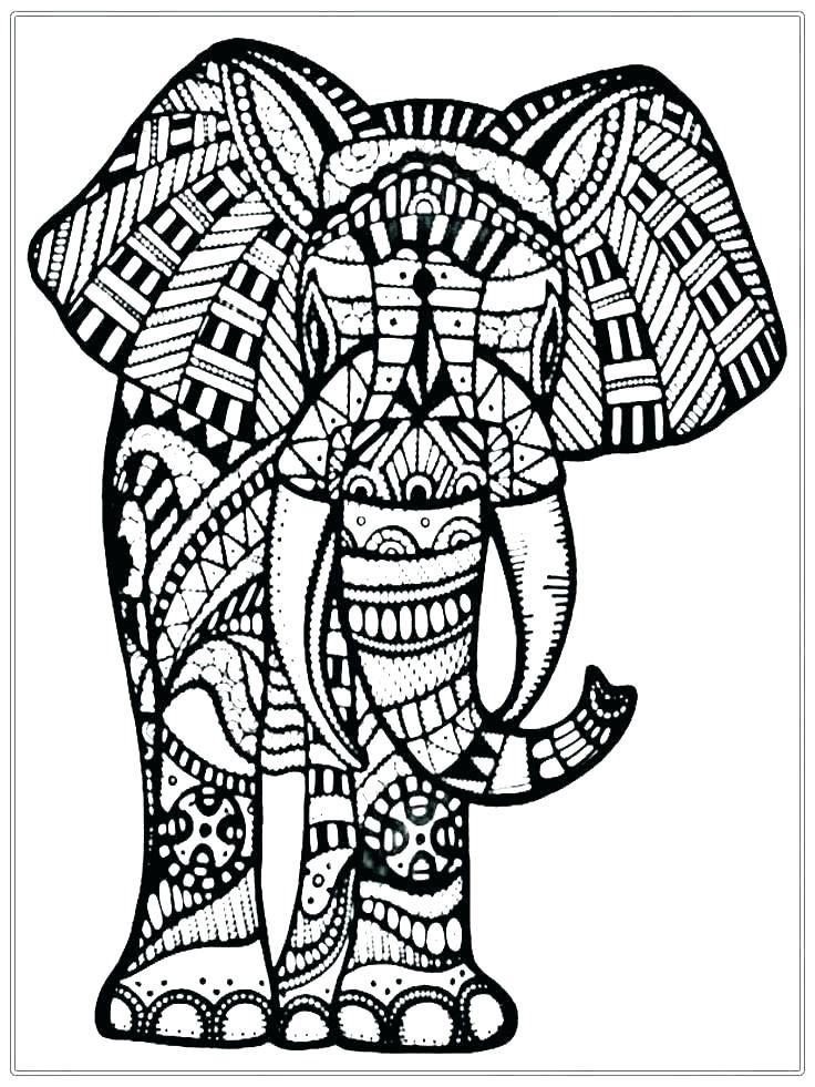 Free Elephant Coloring Pages For Adults To Print In 2020 Elephant Coloring Page Skull Coloring Pages Mandala Coloring Pages