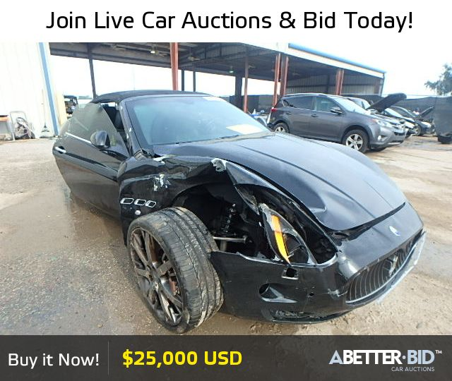 Salvage 2011 MASERATI ALL MODELS For Sale
