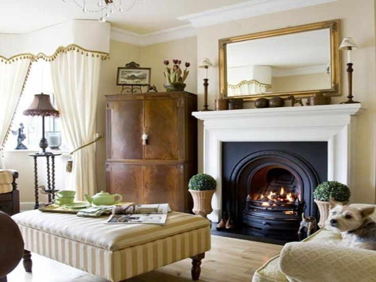 Traditional Living Room With Fireplace Decorating Ideas