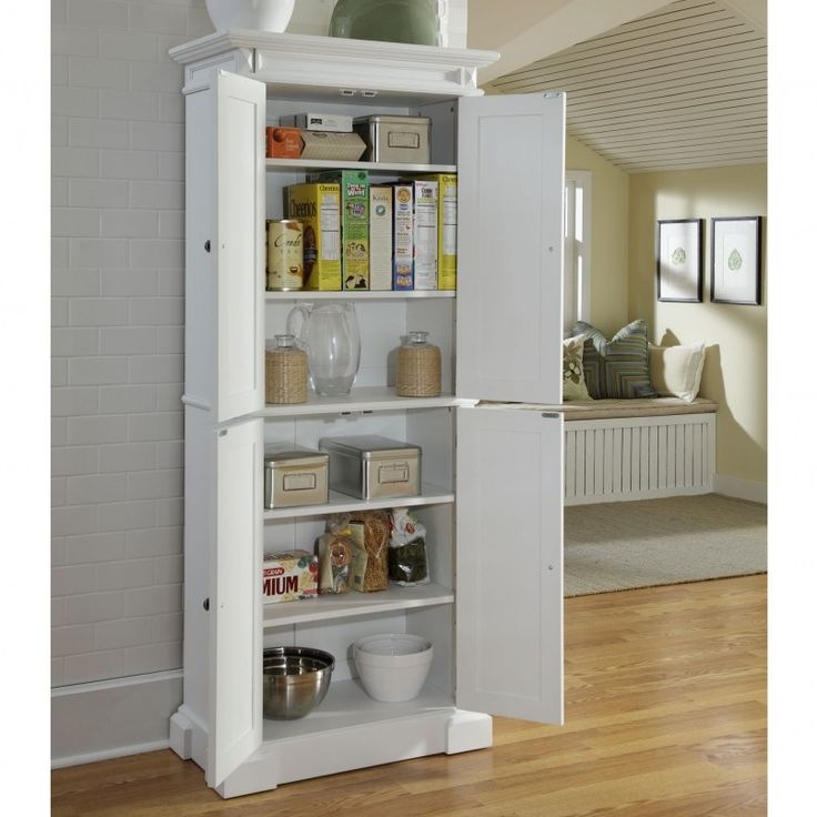 Kitchen Smart White Kitchen Storage Furniture With White Varnished Oak Wooden Kitchen Storage Cabinet Also White Kitchen Storage Pantry And Laminated Wooden Floor Besides White Pantry Cabinet Double Door   Kitchen Storage Ideas : Reduce Clutter At Your Kitchen
