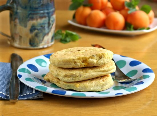 Triple Corn Pancakes make a great breakfast (or lunchbox addition!). Vegan and gluten-free.