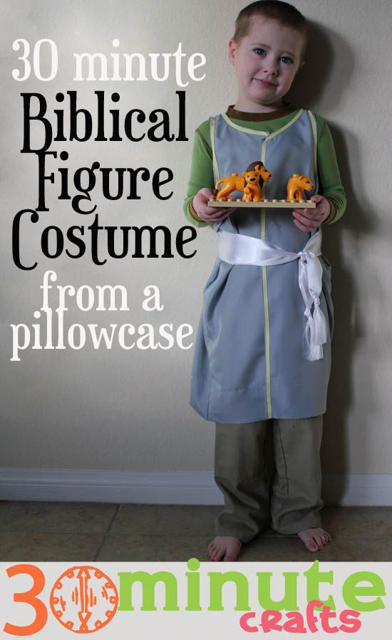 38 best bible costumes for kids images on pinterest school sunday biblical figure costume from a pillowcase in 30 minutes solutioingenieria Gallery