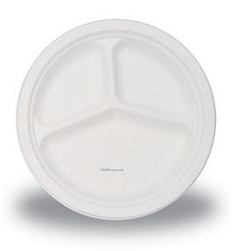 3 Section 10u0027 White Plastic Plates - 26cm Pack of 50  sc 1 st  Pinterest & 7 best Party Disposables images on Pinterest | Paper plates 50 ...