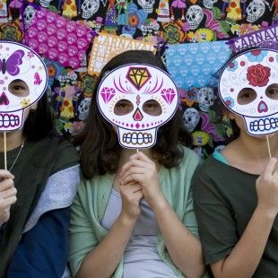 Dia de los Muertos Printable Photo Booth Props
