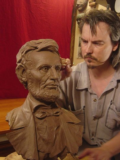 Lincoln Clay Sculpture