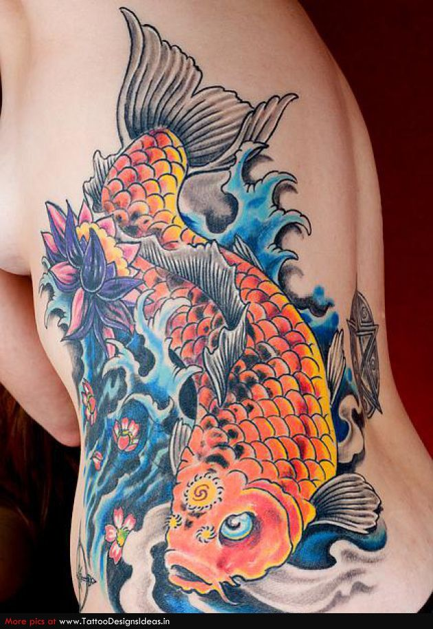 koi fish tattoo meaning stand for tat and fish
