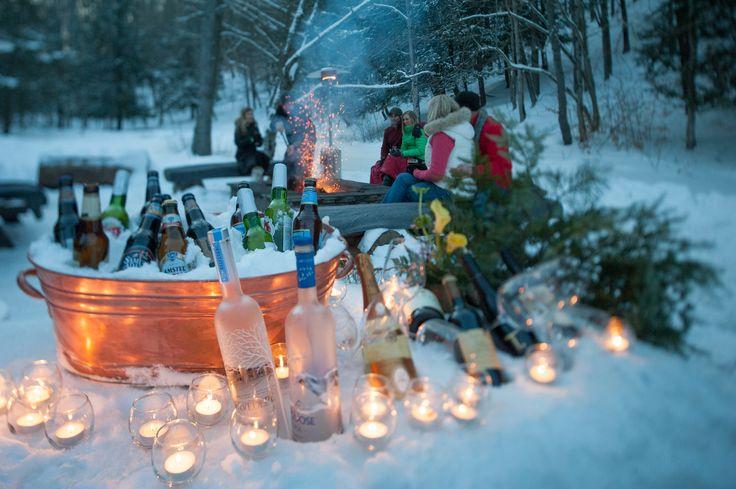 Winter Activities - The lodge at Glendorn.  Ice Bar at Skipper Lake