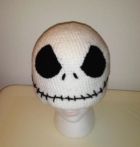 Looking for crocheting project inspiration? Check out Jack Skellington Skater Skully Adult by member MellowMe.