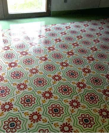 Decorative Cement Floor Tiles From Apartment Therapy Re Nest