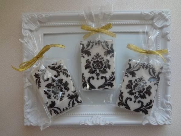 ハンドメイド デコパージュ石鹸 ダマスク柄石鹸 3個セット インテリア 雑貨 Handmade towels ¥400yen 〆05月09日