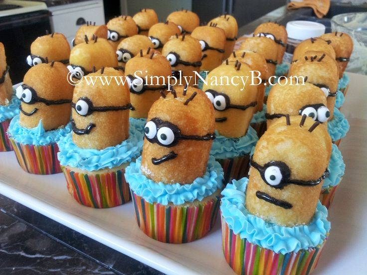 I made these Minion Cupcakes for my son's 10th Birthday and they were a huge hit with guests.  *Got the idea from Pinterest*