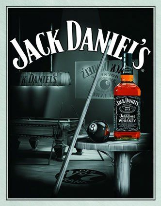 Jack Daniels and a pool table that's all I need!