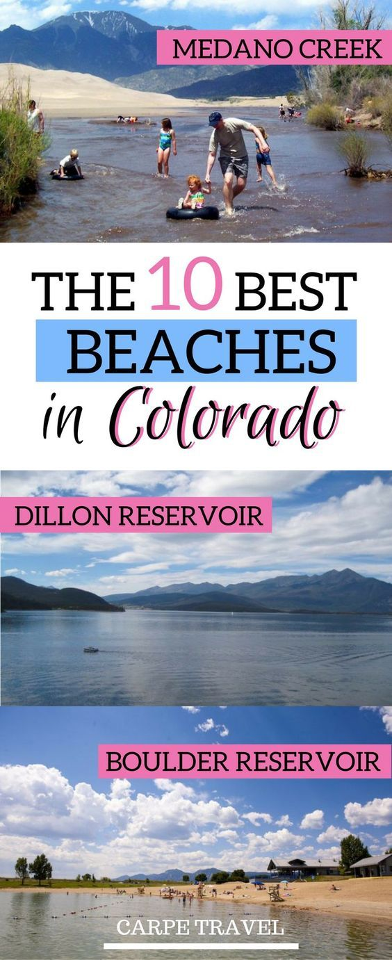 Wait, what?? Beaches in Colorado? Yes, they exist! Click for the list of the 10 best beaches in Colorado, which include Medano Creek, the Boulder Reservoir, and a few more.| Colorado things to do | Colorado travel tips | Colorado with kids summer | Colorado family vacations for kids #colorado #bestbeachdestinations - via @elainschoch