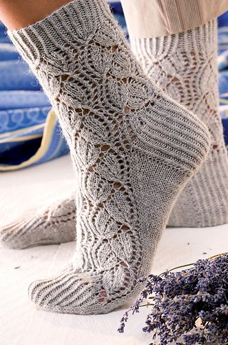Örgü çorap. Handmade lace stockings.
