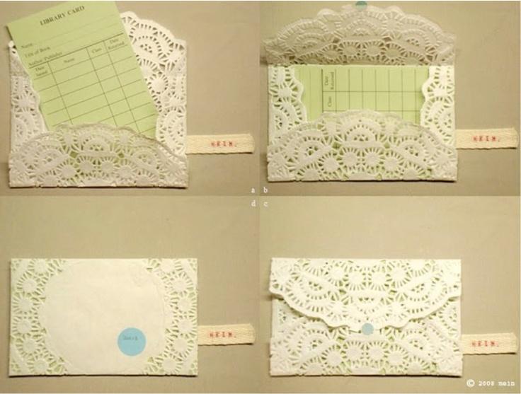 DIY Doily Envelopes
