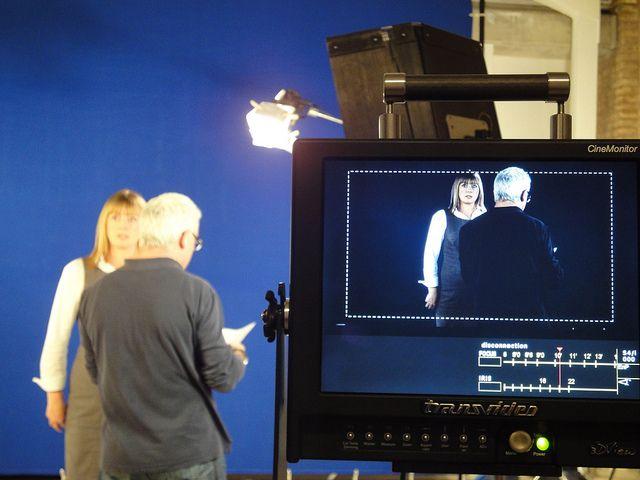Trabajando el acting con nuestro director de casting.