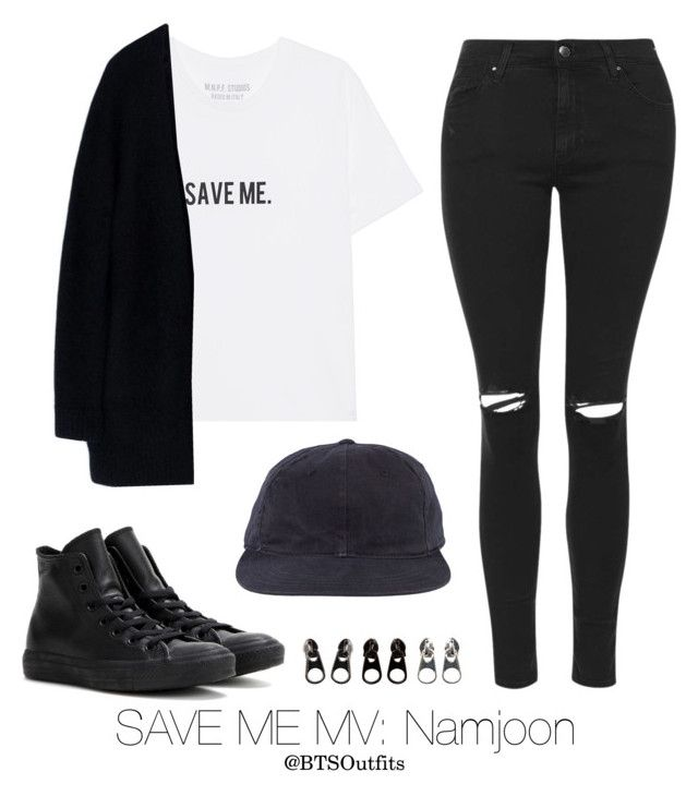 """Save Me MV: Namjoon"" by btsoutfits ❤ liked on Polyvore featuring Topshop, Acne Studios, Converse and Full Tilt"