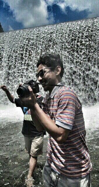 Tips the water fall in Tukad Unda, Bali, Indonesia