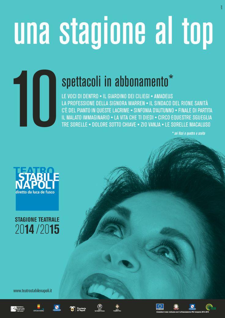 """Campagna di #comunicazione """" una #stagione al top"""" #Mercadante - #Teatro Stabile di #Napoli  #operedrammaturge #opereteatrali #arteteatrale"""