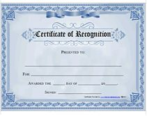 recognition award certificates to prinit