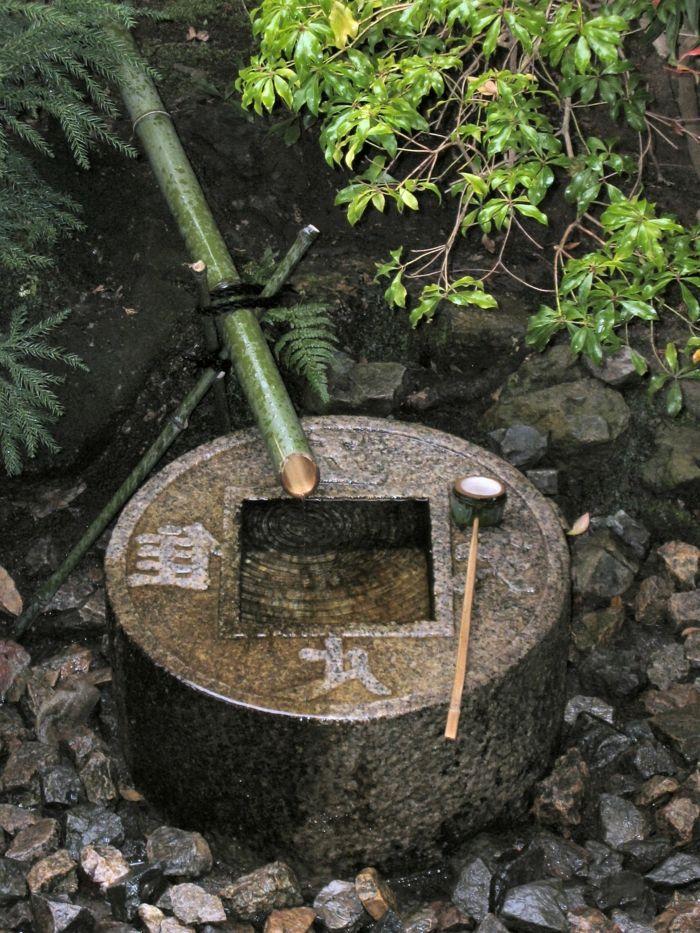 les 25 meilleures id es concernant fontaine bambou sur. Black Bedroom Furniture Sets. Home Design Ideas