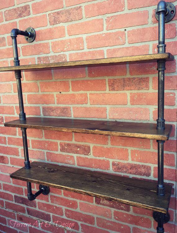 Steampunk Shelf Industrial shelves Wall by FerreroArtDesign