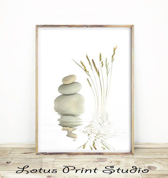Zen Stones Print Pebbles On Top Of Each Other Yoga Wall Art Yoga Wall Art Zen Art Art