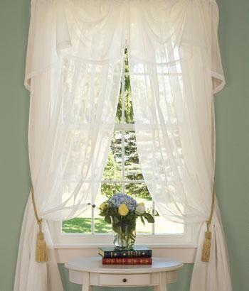 Curtains Ideas austrian valances curtains : Country Curtains Sheer Austrian Valance $26.95 | living room ...