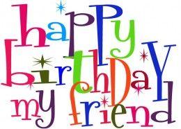 Cute Birthday Clipart for Facebook - Happy Birthday My Friend