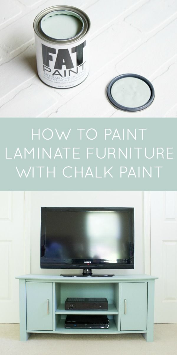 How to paint a lasting finish on laminate furniture with chalk paint