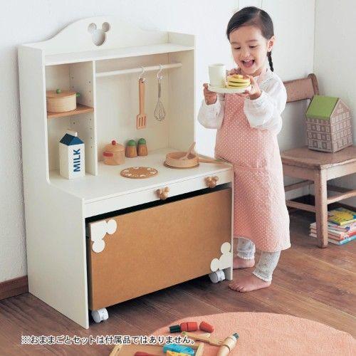 かわいいおままごと用キッチンに楽しく収納