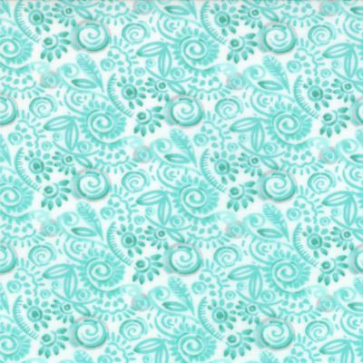 Modern Roses - Sweat Pea in Patina (7186 13) // Juberry Fabrics