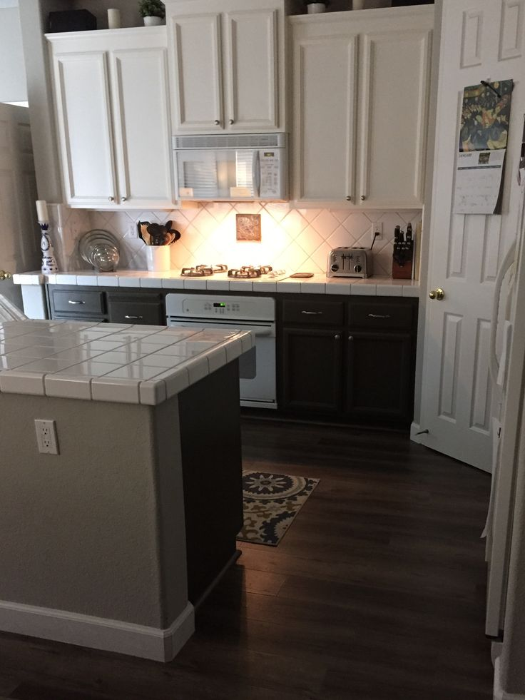 Painted Cabinets Swiss Coffee And Wild Truffle By Glidden