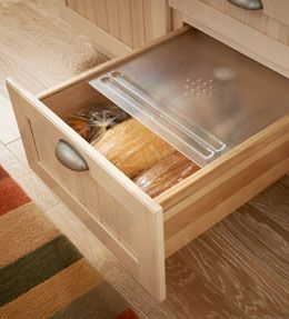 MyStyle Studio  Log On Register Home  Select My Products  KraftMaid Storage Solutions  Kitchen - Food  Sliding Bread Box   For the Kitchen  Sliding Bread Box    Keep bread, crackers and snacks fresh in this handy drawer with a frosted sliding lid.    Video    Other Zones:	Food  Installation Options: