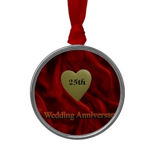 1000 Images About 25Th Wedding Anniversary Ornaments On Pinterest