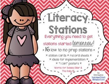 Who has tons of time to prep centers and stations? Not me! I like it easy, simple, and fast! If you're looking to start stations, or looking for new ideas to make your life easier, look no further. Whether you love Debbie Diller's Literacy Work Stations or you're an avid follower of The Daily Five, this pack is chock full of everything you need to get stations up and running in your classroom.