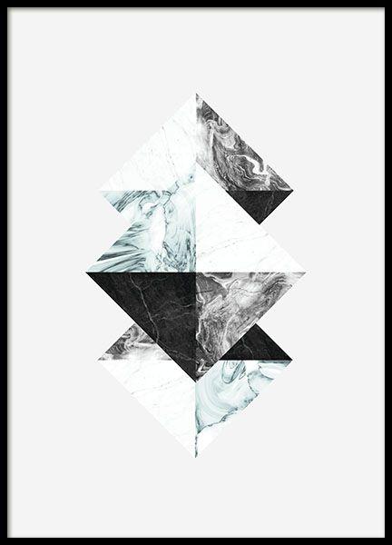 Triangles blue, affiche dans le groupe Affiches / Formats / 50x70cm chez Desenio AB (7927)